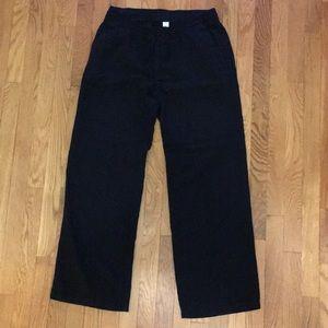 Old Navy Black Linen Wide Leg Drawstring Pants - M